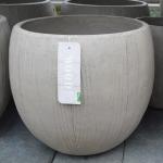Eggpot wood-natural concrete